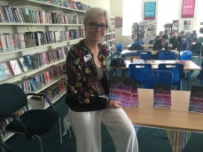 Sarah Holding with the edited anthology of stories by the Hinchley Wood School writers' club